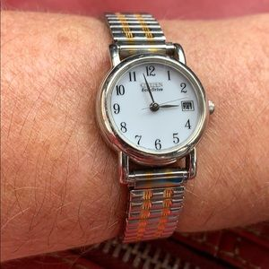 Citizen Eco- Drive Watch  silver / gold Nice!
